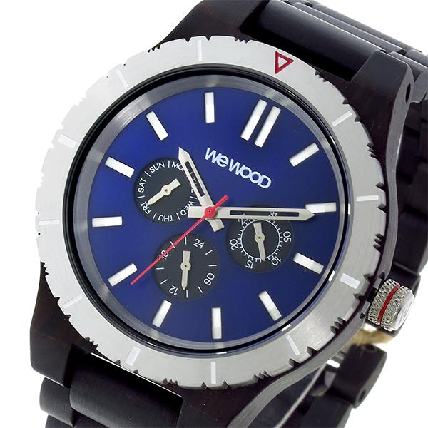 ウィーウッド WEWOOD KAPPA MB BLACK BLUE クオーツ メンズ 腕時計 時計 9818132 ネイビー 国内正規