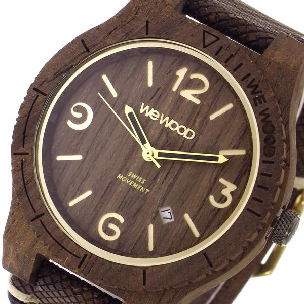 ウィーウッド WEWOOD ALPHA SW CHOCO ROUGH クオーツ メンズ 腕時計 時計 9818144 ブラウン 国内正規