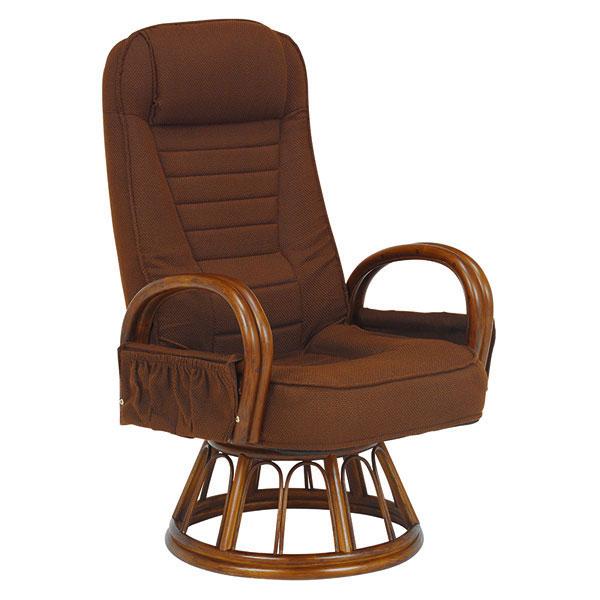 萩原 ギア付き回転座椅子(ブラウン) RZ-1257BR 4934257239561 【代引き不可】