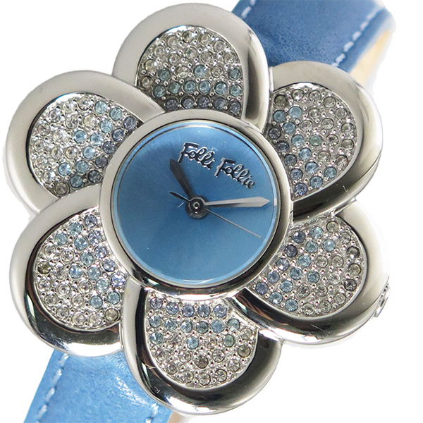 フォリフォリ FOLLI FOLL クオーツ レディース 腕時計 時計 098-03E159BL ライトブルー