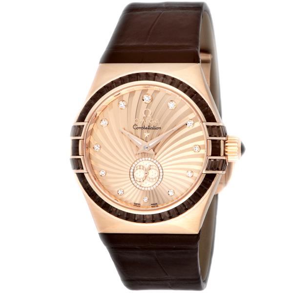 オメガ OMEGA コンステレーション コーアクシャル 自動巻き レディース 腕時計 123.58.35.20.99.001 ブラウン【送料無料】