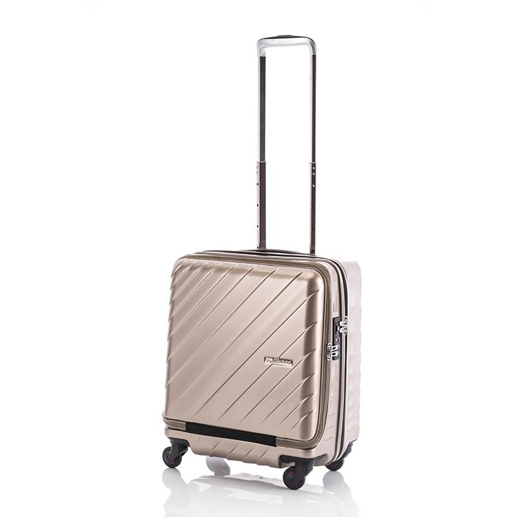 ヒデオワカマツ HIDEO WAKAMATSU マックスキャビン ウェーブ スーツケース 85-76299 ゴールド