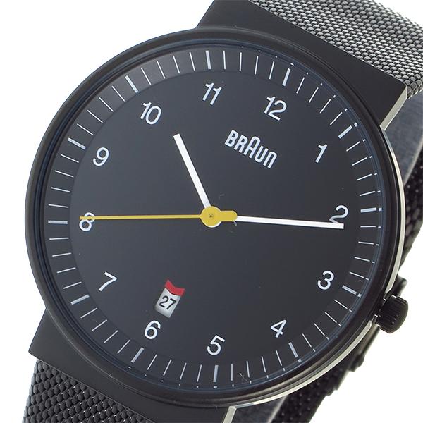 ブラウン BRAUN クオーツ メンズ 腕時計 時計 BN0032BKBKMHG ブラック