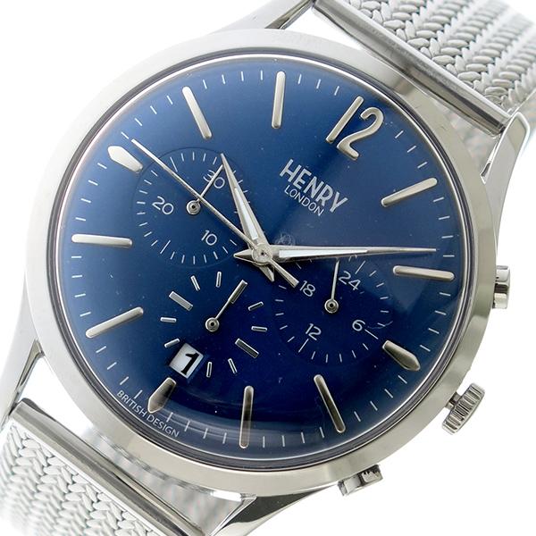 ヘンリーロンドン HENRY LONDON クオーツ メンズ 腕時計 時計 HL41-CM-0037 ネイビー