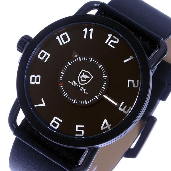 シャーク スポーツウォッチ caribbean roughshark クオーツ メンズ 腕時計 時計 SH552-BK ブラック