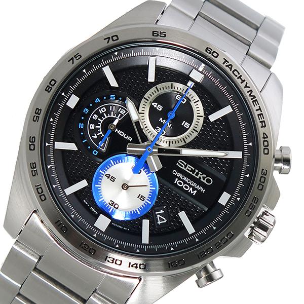 セイコー SEIKO クオーツ メンズ 腕時計 時計 SSB257P1 ブラック