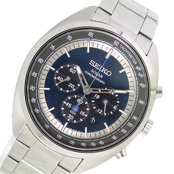 セイコー SEIKO クオーツ メンズ 腕時計 時計 SSC619P1 ネイビー