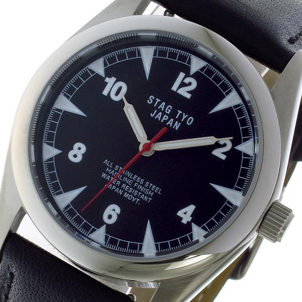 スタッグ STAG TYO クォーツ メンズ 腕時計 時計 STG016S2 ブラック