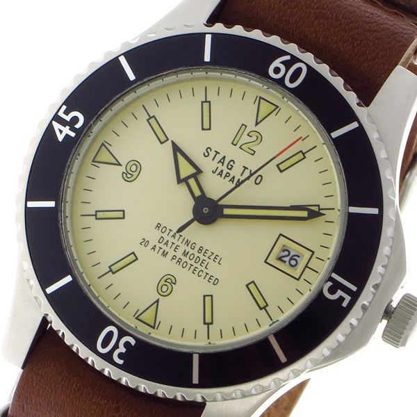 スタッグ STAG TYO クォーツ メンズ 腕時計 時計 STG018LT1 ベージュ