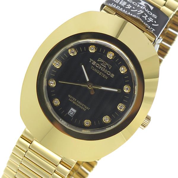 テクノス TECHNOS クオーツ メンズ 腕時計 時計 T9475GB ブラック