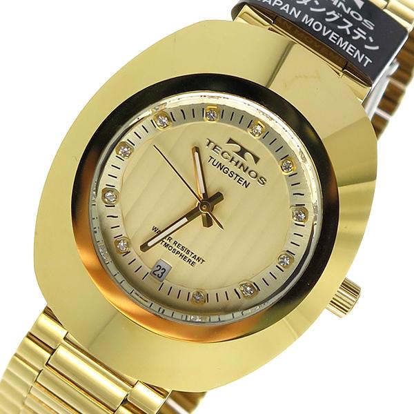 テクノス TECHNOS クオーツ メンズ 腕時計 時計 T9475GC ゴールド