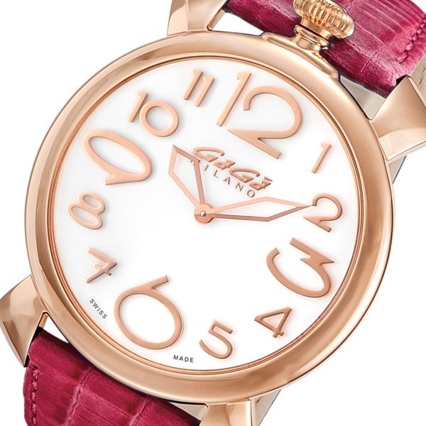 ガガ ミラノ マニュアーレ シン 46mm クオーツ レディース 腕時計 509106 ホワイト【送料無料】