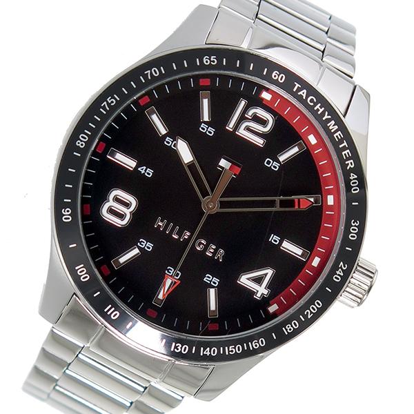 トミー ヒルフィガー TOMMY HILFIGER クオーツ メンズ 腕時計 時計 1791176 ブラック