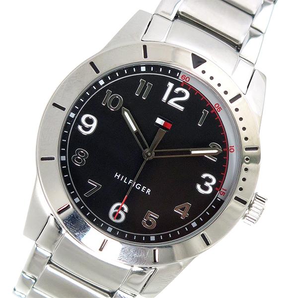 トミー ヒルフィガー TOMMY HILFIGER クオーツ メンズ 腕時計 時計 1791288 ブラック