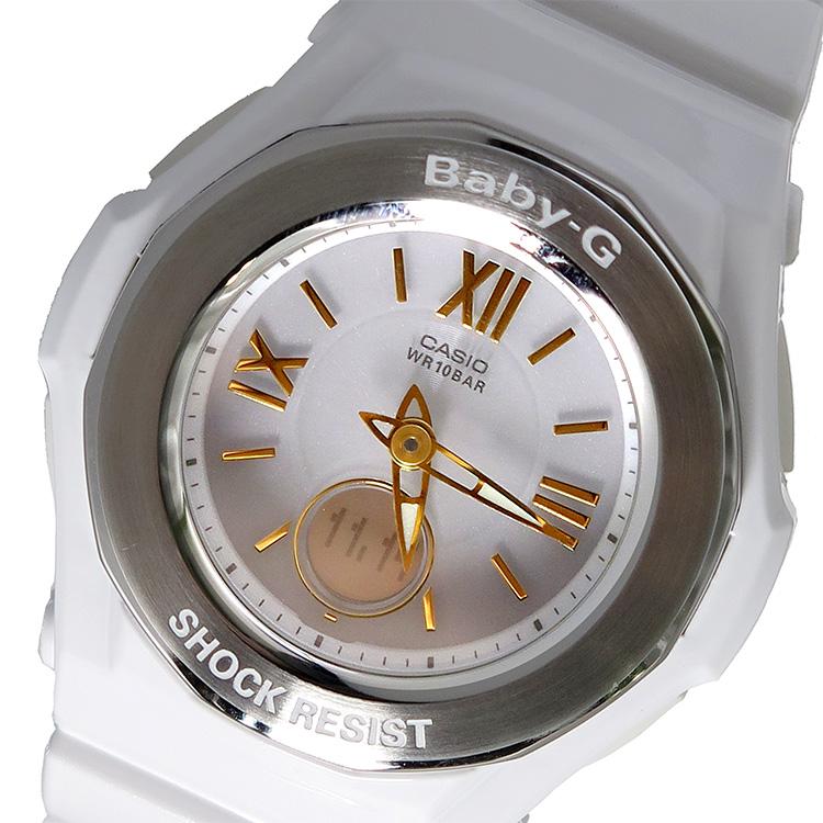 カシオ CASIO ベビーG BABY-G クオーツ レディース 腕時計 時計 BGA-1050GA-7BJF ホワイトシルバー 国内正規