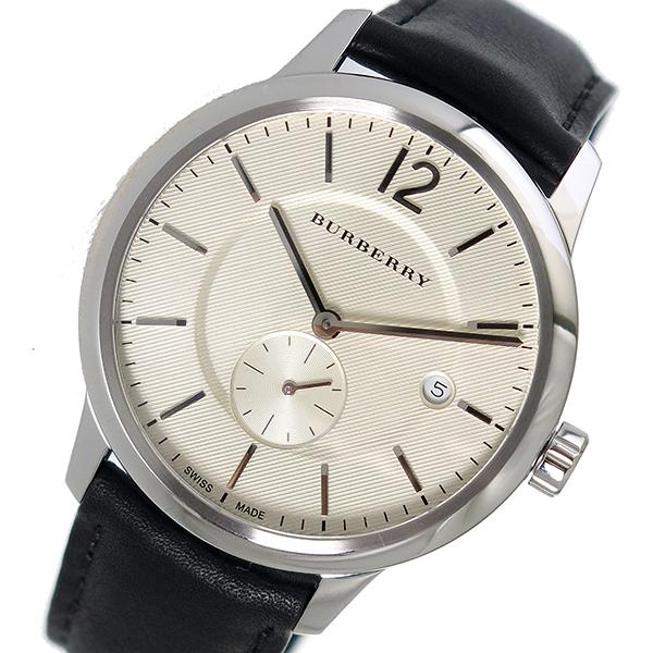 バーバリー BURBERRY ザ クラシックラウンド クオーツ メンズ 腕時計 BU10000 アイボリー【送料無料】