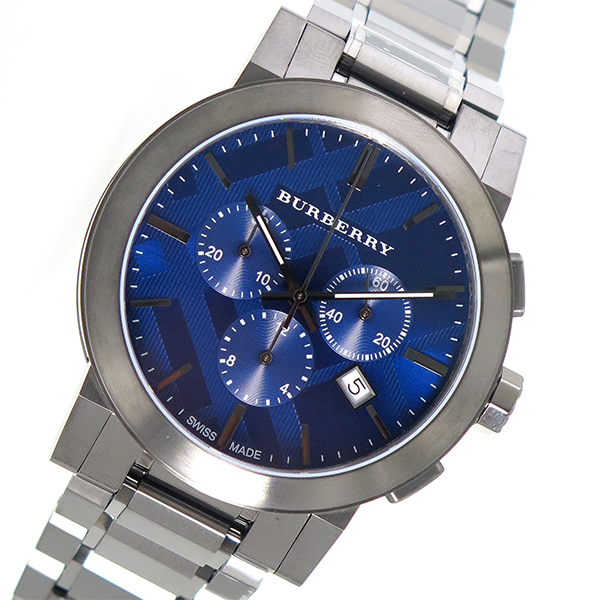 バーバリー BURBERRY ザ シティ THE CITY クロノ クオーツ メンズ 腕時計 BU9365 ネイビー【送料無料】