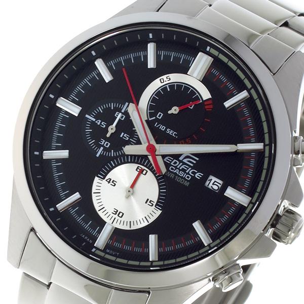 カシオ CASIO エディフィス EDIFICE クロノ クォーツ メンズ 腕時計 時計 EFV520D1A ブラック