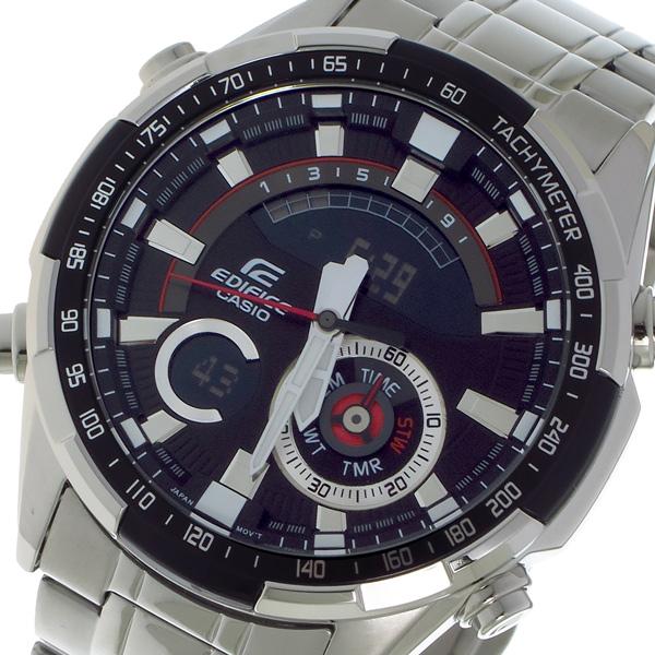 カシオ CASIO エディフィス EDIFICE クロノ クォーツ メンズ 腕時計 時計 ERA600D1A ブラック【S1】