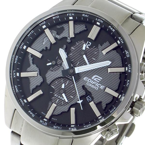カシオ CASIO エディフィス EDIFICE クロノ クォーツ メンズ 腕時計 時計 ETD300D1A ブラック