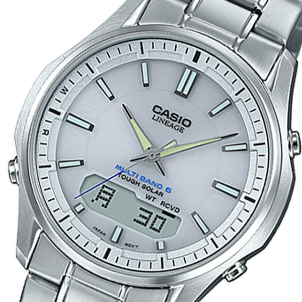 カシオ CASIO リニエージ LINEAGE アナデジ クオーツ メンズ 腕時計 時計 LCW-M100DE-7AJF シルバー 国内正規