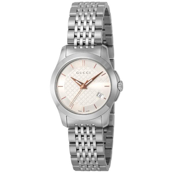 グッチ GUCCI Gタイムレス クオーツ レディース 腕時計 YA126565 シルバー【送料無料】