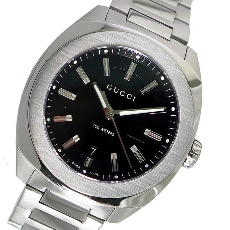 グッチ GUCCI GG2570 クオーツ メンズ 腕時計 YA142201 ブラック【送料無料】【S1】