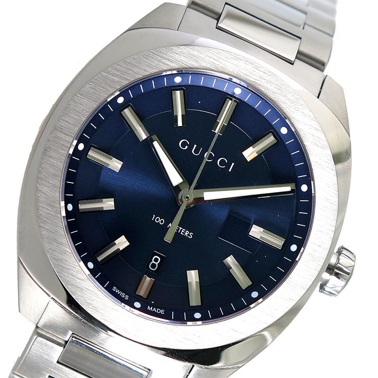 グッチ GUCCI GG2570 クオーツ メンズ 腕時計 YA142303 ネイビー【送料無料】