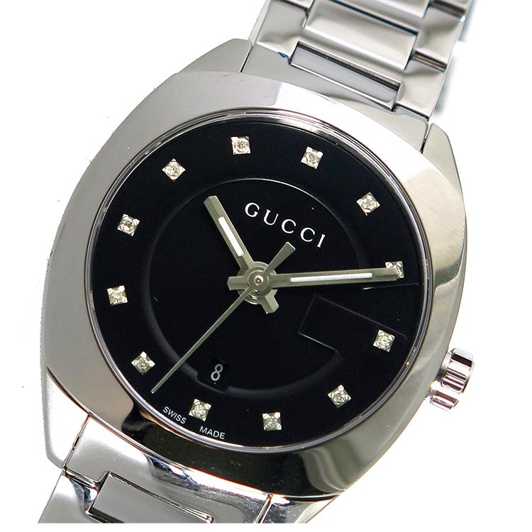 グッチ GUCCI GG2570 クオーツ レディース 腕時計 YA142503 ブラック【】【ポイント10倍】【楽ギフ_包装】【inte_D1806】