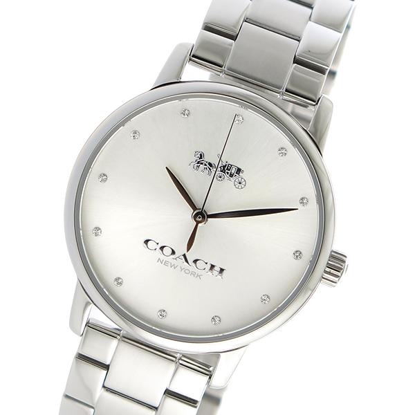 コーチ COACH グランド クオーツ レディース 腕時計 時計 14502926 シルバー