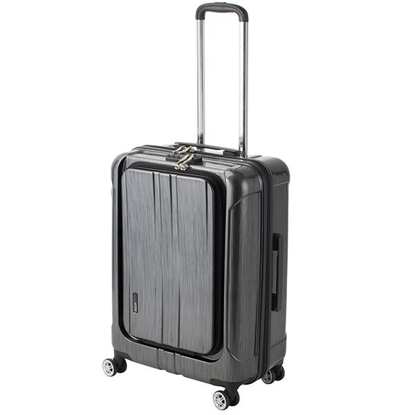 アクタス ACTUS フロントオープン ポライト 中型 Lサイズ 60L スーツケース 74-20351 ブラック 【代引き不可】