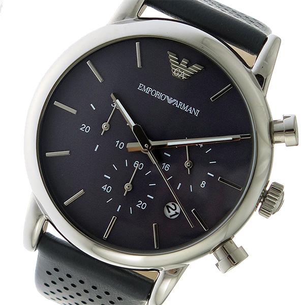 エンポリオ アルマーニ EMPORIO ARMANI クオーツ クロノ メンズ 腕時計 時計 AR1735 グレー