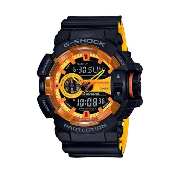 カシオ CASIO Gショック G-SHOCK ロータリースイッチ スポーティミックスビ アナデジ クオーツ メンズ クロノ 腕時計 時計 GA-400BY-1A ブラック/オレンジ