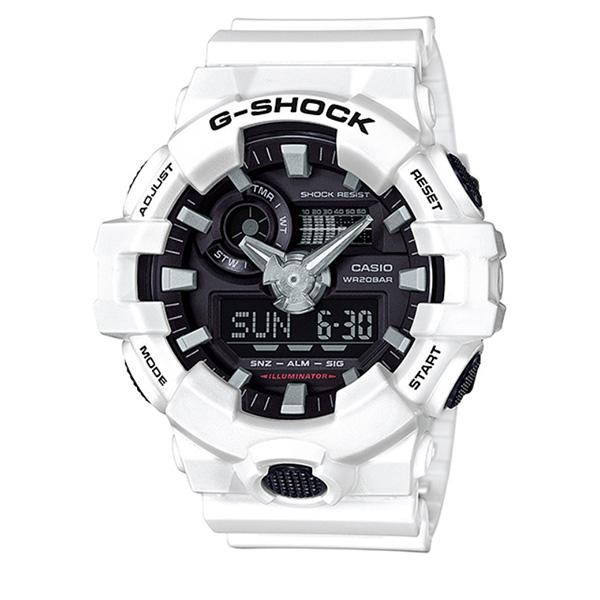 カシオ CASIO Gショック G-SHOCK アナデジコンビ アナデジ クオーツ メンズ クロノ 腕時計 時計 GA-700-7A ブラック