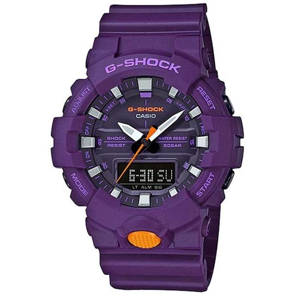 カシオ CASIO Gショック G-SHOCK スニーカーモデル アナデジコンビ アナデジ クオーツ メンズ クロノ 腕時計 時計 GA-800SC-6A パープル