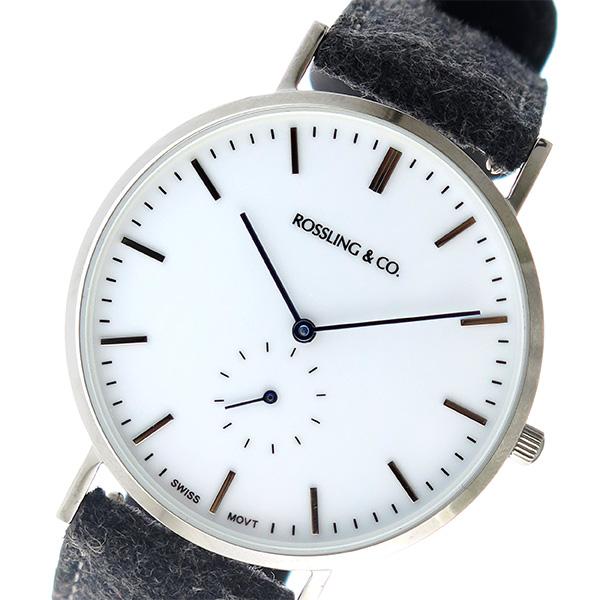 ROSSLING ロスリング CLASSIC 40MM Stirling クオーツ ユニセックス 腕時計 時計 RO-001-002 ダークグレー/ホワイト
