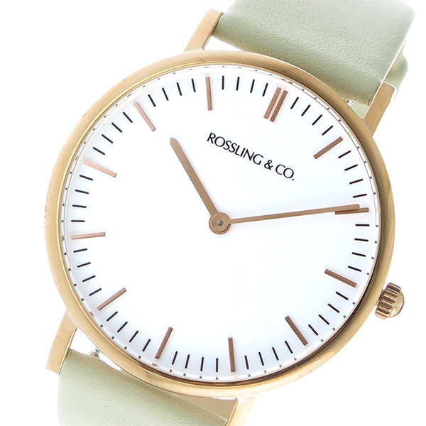 ROSSLING ロスリング CLASSIC 36MM Pistachio クオーツ ユニセックス 腕時計 時計 RO-005-008 クリーム/ホワイト