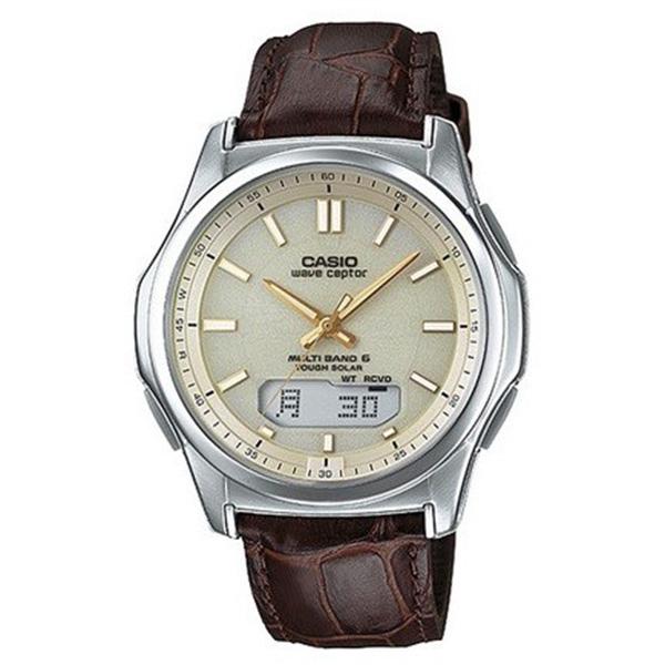 カシオ ウェーブセプター 電波ソーラー アナデジ クオーツ メンズ クロノ 腕時計 時計 WVA-M630L-9AJF ゴールド