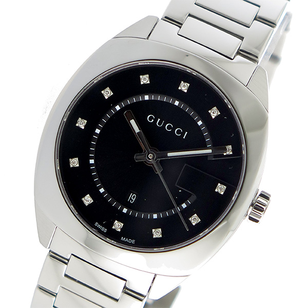 グッチ GUCCI GG2570 クオーツ メンズ 腕時計 YA142404 ブラック【送料無料】
