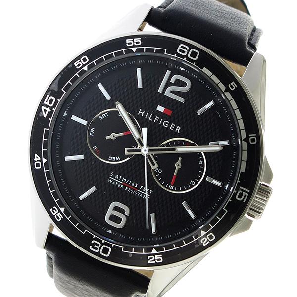 トミー ヒルフィガー TOMMY HILFIGER クオーツ メンズ 腕時計 時計 1791369 ブラック