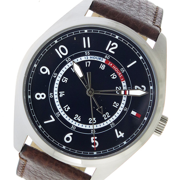 トミー ヒルフィガー TOMMY HILFIGER クオーツ メンズ 腕時計 時計 1791371 ネイビー