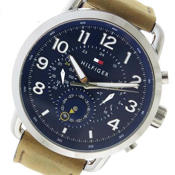 トミー ヒルフィガー TOMMY HILFIGER クロノ クオーツ メンズ 腕時計 時計 1791424 ネイビー