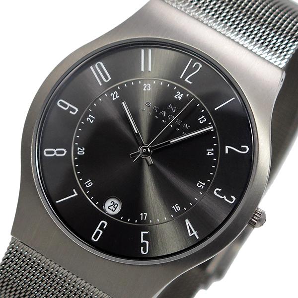 スカーゲン SKAGEN ウルトラスリム チタン クオーツ 腕時計 時計 233XLTTM ガンメタ