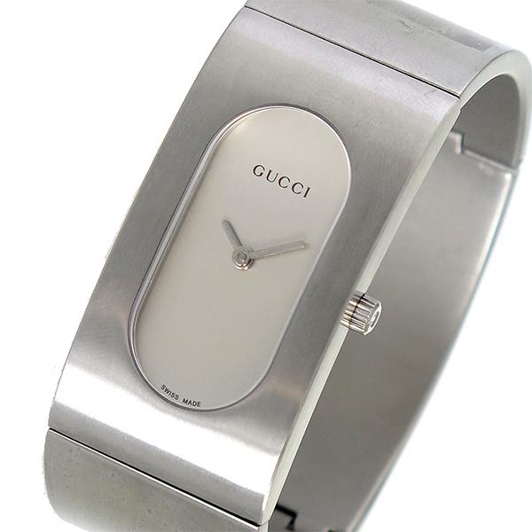 グッチ GUCCI バングル型 クオーツ レディース 腕時計 GQ2405P シルバー【送料無料】