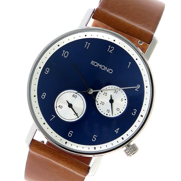 コモノ KOMONO Walther クオーツ ユニセックス 腕時計 時計 KOM-W4001 ネイビー【ポイント10倍】【楽ギフ_包装】