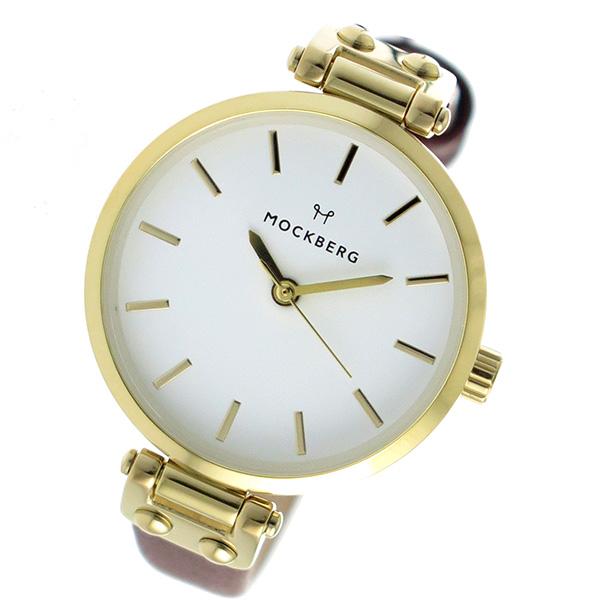 モックバーグ MOCKBERG クオーツ レディース 腕時計 時計 MO208 ホワイト【ポイント10倍】【楽ギフ_包装】