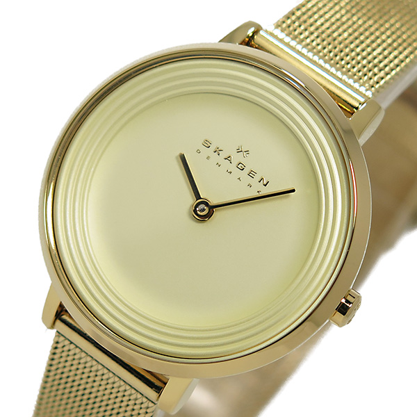 スカーゲン SKAGEN クオーツ レディース 腕時計 時計 SKW2212 ライトゴールド