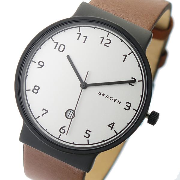スカーゲン SKAGEN クオーツ メンズ 腕時計 時計 SKW6297 ホワイトシルバー/ブラウン