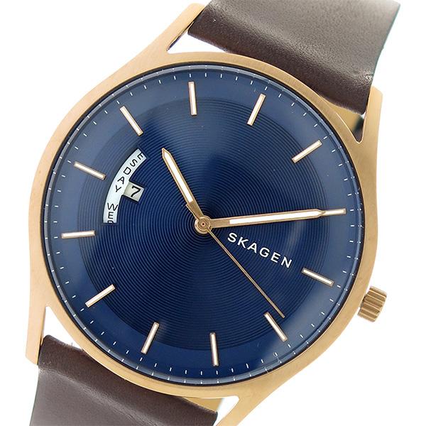 スカーゲン SKAGEN クオーツ メンズ 腕時計 時計 SKW6395 ネイビー/ブラウン