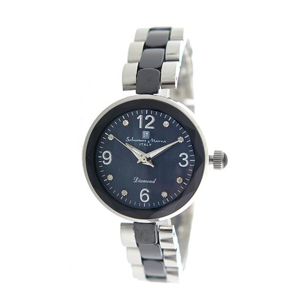 サルバトーレマーラ SALVATORE MARRA クオーツ レディース 腕時計 時計 SM17153-SSBKA ブラックシェル【ポイント10倍】【楽ギフ_包装】【inte_D1806】